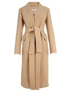 Carven Camel Wool Coat