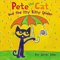 """Buy Pete the Cat and the Itsy Bitsy Spider by James Dean at Mighty Ape NZ. Pete the Cat's cool adaptation of the classic children's song """"Itsy Bitsy Spider"""" will have have young readers laughing and singing along. The itsy b. James Dean, Cat Coloring Page, Coloring Pages, Coloring Sheets, Spider Book, Pete The Cats, Pete The Cat Games, Valentines Day Coloring Page, Spider Crafts"""