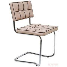 krzesło na płozach expo square cream, kare design