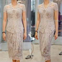 ideas for dress brokat modern indonesia Vera Kebaya, Batik Kebaya, Kebaya Dress, Dress Pesta, Batik Dress, Dress Brokat Modern, Modern Kebaya, Model Kebaya Brokat Modern, Trendy Dresses