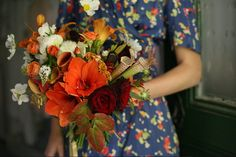 Flowers: bright-orange-green-amy-merrick