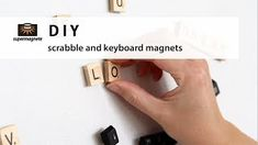 DIY - How to make your own scrabble and keyboard magnets / Scrabble- und Tastatur-Magnete kinderleicht selber machen - supermagnete Make Your Own, Make It Yourself, How To Make, Disc Magnet, Keyboard Keys, Scrabble Tiles, Neodymium Magnets, How To Treat Acne, Puzzle Pieces