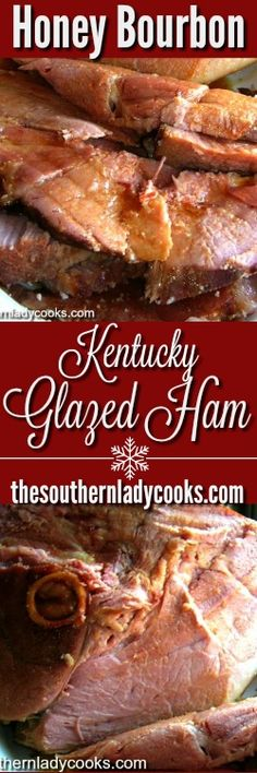 We love ham anytime but we especially love our Kentucky Honey Bourbon Glazed Ham. I get rave reviews on this recipe, we make it for the holiday season. Honey Bourbon, Bourbon Sauce, Bourbon Glaze, Honey Glazed Ham, Honey Ham, Honey Baked Ham Recipe, Bourbon Recipes, Ham Recipes, Easter Recipes