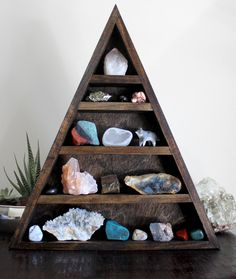 Crystal and mineral collection via Stone and Violet on Etsy.