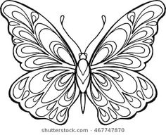 Decorative hand drawn doodle butterfly illustration for coloring book illustration Hand Drawn Vector Zentangle Butterfly Illustration Stock Vector (Royalty Free) 287624276 Butterfly Outline, Butterfly Drawing, Butterfly Pattern, Butterfly Images, Butterfly Template, Quilling Patterns, Quilling Designs, Paper Quilling, Coloring Pages For Boys