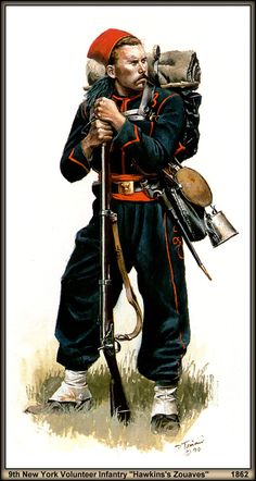 Union; 9th New York Volunteer Infantry 'Hawkins' Zouaves' 1862 by artist Don Troiani