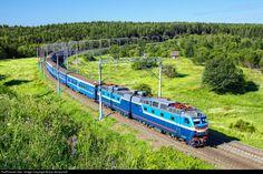 "locomotive with passenger train ""Ukraina"" runs from Kiev to Moscow near Maloyaroslavets city. Locomotive, European Countries, Soviet Union, Czech Republic, Moscow, Tractors, Russia, Electric, Plant"