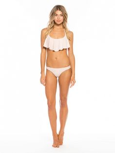 Tori Praver's collaboration with Target: Flounce Halter Top and Cheeky Bikini Bottoms both in Sweet Pea Pink