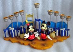 Amazon.com: Disney Mickey & Minnie Hanukkah Menorah: Home & Kitchen