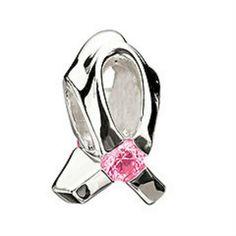 Chamilia Breast Cancer Program - Light Pink Cz Bead