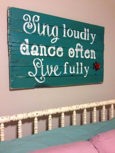 Sing Loudly, Dance Often, Live Fully Stencil | Perfect Pallet Sign for a Little Girl's Room by lifeisartstudio on Etsy