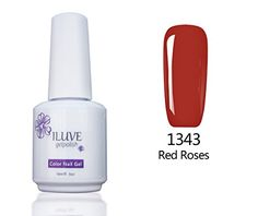 iLuve Long Lasting Soak Off Nail Polish with 238 Color Choices  1 bottle with 15ml of UV Gel Polish  Red Roses Color 1343 *** Check out the image by visiting the link.Note:It is affiliate link to Amazon.