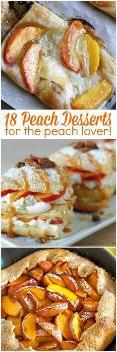 18 Peach Desserts for the Peach Lover