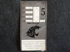 My first WSU football game. And the day I became a Cougar.