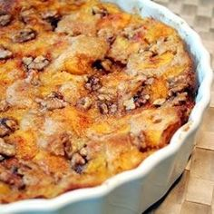 For this delicious, simple pie, all you 'll need is a 9x9-inch pan, melted butter, a yummy batter and some sliced, fresh fruit. The batter goes in the pan, the fruit is poured on top of the batter, and the cobbler is baked in the oven for an hour.