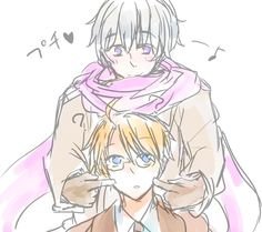おいも - Hetalia - America / Russia--> Am I the only one that wish these  two go together?<<Nah man it's called RusAme onhonhonhonhon