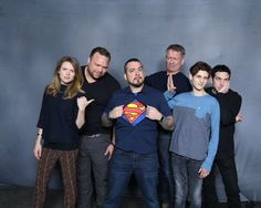 "gameofgotham: "" look at everyone's reaction to the fan's superman shirt haha (x) """