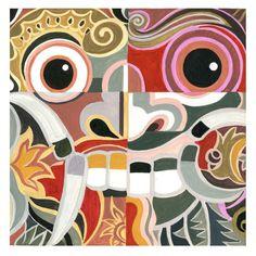 Acrylic painting by André Baldet Bali Painting, Acrylic Painting On Paper, Painting & Drawing, Paper Art, Character Design Inspiration, Painting Inspiration, Koi Art, Graffiti Painting, Zentangle Patterns
