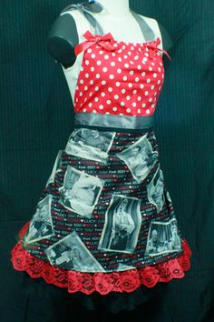 Shop for apron on Etsy, the place to express your creativity through the buying and selling of handmade and vintage goods. I Love Lucy, Love Her, Lucille Ball, Desi, Cute Aprons, How To Show Love, American, Cute Outfits, Kitchen Towels