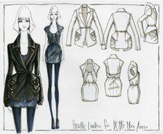 Fashion Sketchbook - fashion design drawings, fashion portfolio // Giselle Limtao