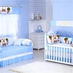 Quarto para bebê: fazendinha azul