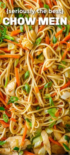 Homemade Chow Mein is easier than you think. This Chicken chow mein is a meal in itself and way better than takeout. healthier, loaded with protein, vegetables and the best homemade sauce! chow mein recipe chinese food Chow Mein Recipe {BEST EVER! Easy Chinese Recipes, Asian Recipes, Ethnic Recipes, Chinese Noodle Recipes, Homemade Chinese Food, Chinese Chicken Recipes, Mexican Recipes, Stir Fry Recipes, Cooking Recipes