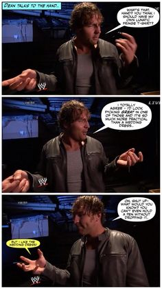 THIS MADE ME LAUGH SO HARD... MY PARENTS ASKED ME IF I NEED MEDICAL ATTENTION... AND I SAID I NEED CPR VIA DEAN AMBROSE<3<3<3<3