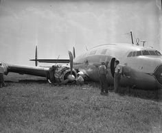 Eastern Air Liner crash landing, Curles Neck Farm - July 21, 1951 - by The Library of Virginia, via Flickr