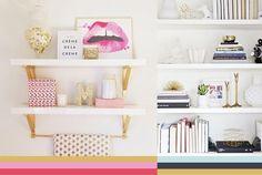 20 ideias de decoração com prateleiras! Esquema de Cores