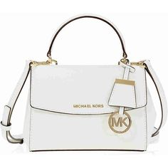 d6304595e18e Michael Kors Ava Extra Small Saffiano Leather Crossbody - Optic White  ($126) ❤ liked