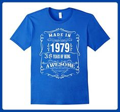 Mens 38th birthday shirt Made in 1979 38 Years Of Being Awesome XL Royal Blue - Birthday shirts (*Amazon Partner-Link)