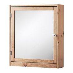 IKEA - SILVERÅN, Spiegelschrank, hellbraun, , Türen können mit der Öffnung nach rechts oder links angebracht werden.Ideal für ein kleines Badezimmer.Spiegel mit Sicherheitsfolie auf der Rückseite, die das Gefahrenrisiko durch splitterndes Glas mindert.