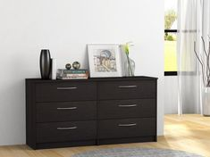 Bedroom 6-Drawers Dresser Cabinet Chest Modern Storage Wooden Furniture Black: $188.50End Date: Mar-18 05:07Buy It Now for… #eBay #Amazon