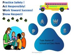 PAWS - A PBIS Reward System...I like this visual, easily adaptible for ROAR..