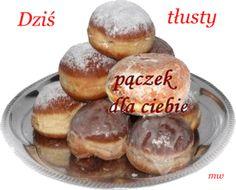 Gify , obrazki i wierszyki na kazdą okazje: Tłusty Czwartek - Zapusty Polish Breakfast, Pretzel Bites, Thursday, Muffin, Bread, Food, Humor, Muffins, Meal