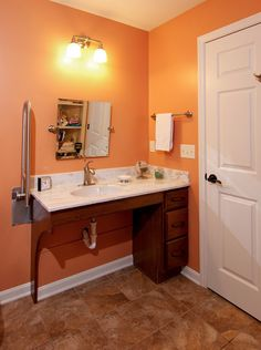 Best Accessible Bathroom Counters Cabinets Images On Pinterest - Handicap bathroom sink cabinets