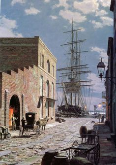 John Stobart - Charleston: Prioleau Street in 1870