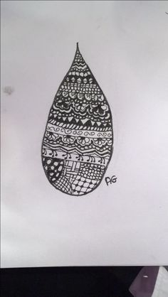 Here is a tear drop doodle I did. Sorry for being inactive I had a lots of exams and didn't have time to draw and post I'm sorry. What do you think? #zentangle #teardrop #drawing #paper #flowers #doodles #instagram #artisticgeorge #artisticgeorgedrawings #agdrawing #artisticgeorgezentangles #foodles #sketchbook #nothingcares #inownworld #whatdoyouthink #opinion #opinions #teardropshape #sketches #sketching #did #drew #draw #drop #tear