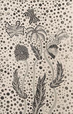 Flowers and Butterflies by Yayoi Kusama