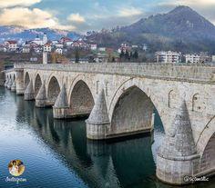 Famous bridge on the Drina, Višegrad, Republic of Srpska, BiH   Чувена на Дрини ћуприја, Вишеград, Република Српска, Бих   Photo: acamatic