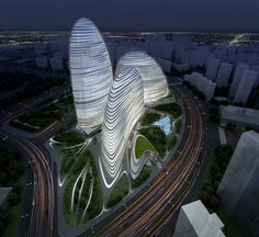 Wangjing SOHO in Beijing by Zaha Hadid