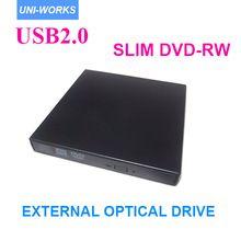 US $16.80 Top quality SATA chip USB 2.0 black Portable External Slim DVD-RW/CD-RW Burner Record Optical Drive CD DVD Combo Writer. Aliexpress product