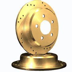 ATL Autosports Performance Brake Rotors Rear Pair Fits 2009 Chrysler PT Cruiser [ W/ Rear Disc ] ATL53008-08DOGZ, Gold