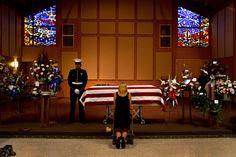 Marine girlfriend says her final goodbye. (U.S. Marine Corps photo by Sgt. Clinton Firstbrook)