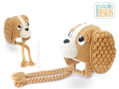 CoCo the Spaniel Puppy Dog Hat PDF Crochet Pattern ин ШкфКщее Штсю