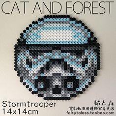 Stormtrooper coaster Star Wars perler beads