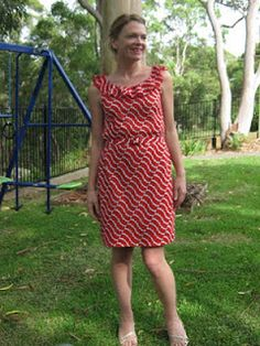 self drafted dress by little betty