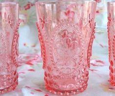 vintage pink glass