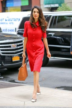 What Amal Clooney Wears:  Dolce & Gabbana When: September 30, 2015 Where: Out and about in New York