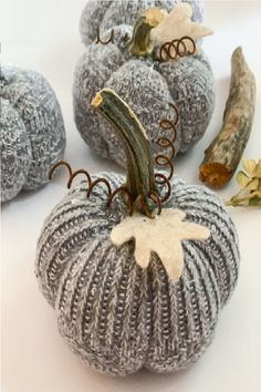 How to Make Fabric Pumpkins from Old Socks – A Well Purposed Woman - Manilla Welt Fake Pumpkins, Fabric Pumpkins, Sweater Pumpkins, Velvet Pumpkins, Autumn Crafts, Holiday Crafts, Fall Halloween, Halloween Crafts, Halloween Fabric